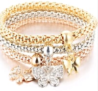 New Beautiful Set of 3 Bracelets, 3 colors- Silver, Gold & Rose Gold  London, N6C 4W2
