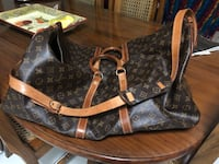 monogrammed brown and black Louis Vuitton leather tote bag Opa Locka, 33167