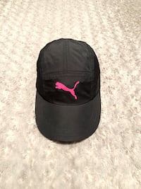 Women's Puma sport cap paid $28 Like new! Black & Pink Puma Logo Hat 100% Polyester Velcro Back Adjustable Preowned Use once Sport Hat Excellent Condition