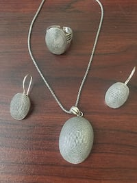 Silver 925 new set! Necklace, pendant, ring, earrings