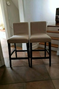 2 bar height solid stools $12 for the pair Mississauga, L5A 2M6