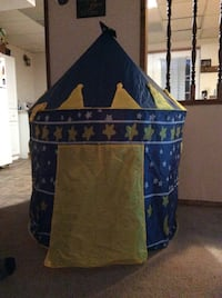 blue, gray and yellow star print canopy tent East Wenatchee, 98802