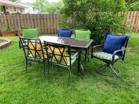 Patio set (table + 6 chairs)