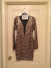 women's brown and black floral dress Mission