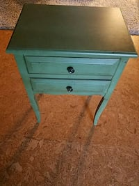 26 x 18 x 13 distressed green side table Cypress, 90630