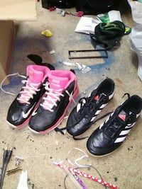 two pairs of Nike and Adidas shoes Sacramento, 95817