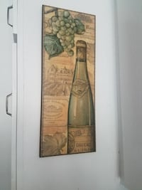 Chateau bottle and grapes still life painting