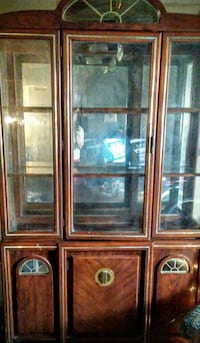 China cabinet antique very nice light inside