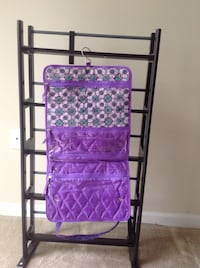 Purple and gray floral fabric organizer Henrico, 23233
