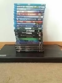 Blu ray player and kids movies including Disney!