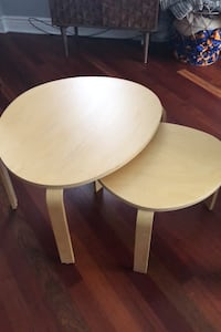Nesting Wood Coffee Tables