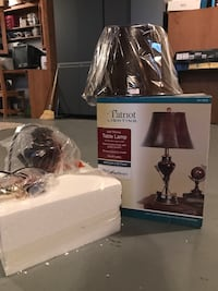 brown lampshade Patriot table lamp with box Prole, 50229
