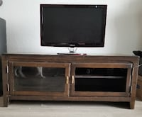 Solid Wood TV Stand with Glass Doors - (UCSD area) San Diego, 92122