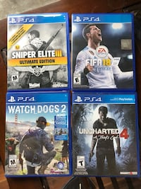 Four assorted ps4 game cases Surrey, V3R 1W1