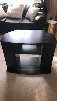 Tv Wood Black Stand with glass door with dvd /Cd/ Blu Ray shelf nice Meridianville, 35759