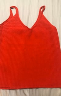 Red v-neck tank top