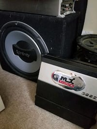 Sub with box and amp