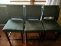 two black wooden framed gray padded chairs Silver Spring, 20906