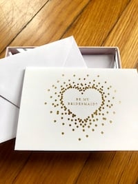 Bridesmaid Card Set with Gold Foil Design (qty. 5)