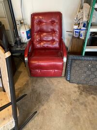 Red Leather Rocker/Recliner