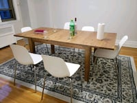 rectangular wooden table with six chairs din Montréal, H3H 1Z9