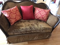 brown and gray floral fabric loveseat Kissimmee