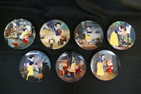 Snow White and The Seven Dwarfs - Edwin M. Knowles - 7 Plates Total Markham