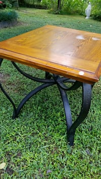 rectangular brown wooden coffee table Lafayette
