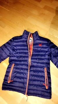 Blå og oransje zip-up boble jakke Bergen, 5007