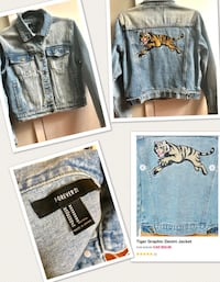 Graphic denim jacket size m Mississauga, L5B 3A7