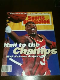 Vintage 1994 Olajuwon Rockets Magazine MVP Champs Missouri City, 77459