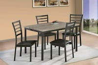 rectangular brown wooden table with four chairs dining set Reno, 89502