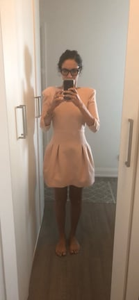 Maje light pink full back zip dress excellent condition