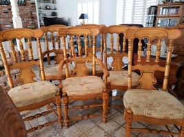 6 dinning table chairs for $150