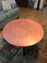 Copper top table -