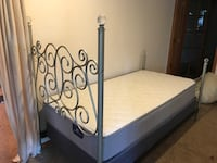 Princess bed with brand new mattress and box spring- Moving must sell by the 30th-delivery available
