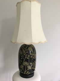 Black floral base table lamp with white lampshade Gaithersburg