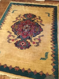 Persian wool carpet hand knotted