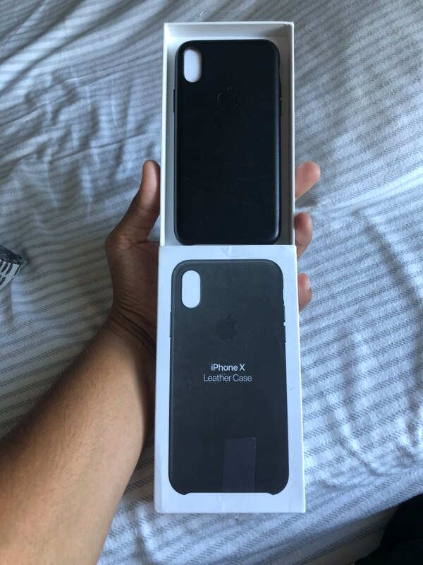 cheap for discount cf1ac 19552 OEM IPhone X leather case Apple Black. No shipping, only meet ups