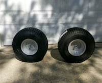 (2) 20x8  rear lawn tractor turf saver tires with rims Germantown, 20876