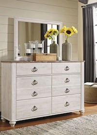 Best Price for Brand New Willowton White Wash Dresser in Maryland!! Baltimore, 21230