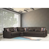MIDTOWN REVERSIBLE SECTIONAL SOFA BED WITH STORAGE BROWN PU LEATHER Clifton, 07013
