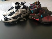 two pairs of Nike basketball shoes