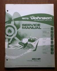 Johnson Outboard Motor Service Manual 1973 Barrie, L4N