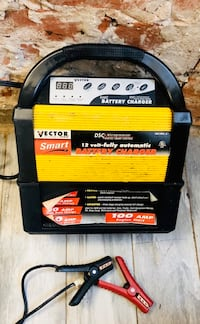 Vector Car Battery Charger with Jumper Cables
