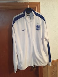 White and blue nike zip-up jacket Mississauga, L5G 3Y8