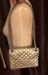 Rebecca Minkoff Quilted gold tone cross body bag. Ridgewood, 07450