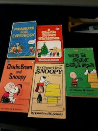 5 Charlie Brown and Snoopy books Edmonton, T5H 1K3