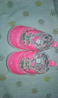 Carter's Newborn Bright Pink Sparkly Shoes