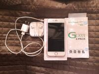 Rose Gold iPhone 64GB EarPods, travel charger, and box New York, 10472